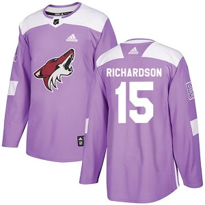 Brad Richardson Youth Adidas Arizona Coyotes Authentic Purple Fights Cancer Practice Jersey
