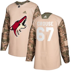 Lawson Crouse Youth Adidas Arizona Coyotes Authentic Camo Veterans Day Practice Jersey